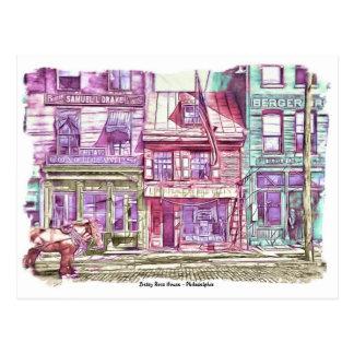 Casa Philadelphia de Betsy Ross Postal