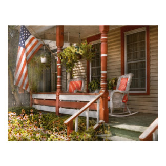 Casa - pórtico - americano tradicional folleto 21,6 x 28 cm