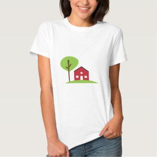 Casa roja camisetas