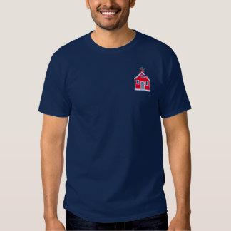 Casa roja de la escuela camisas