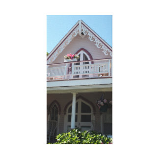 Casa rosada en Martha's Vineyard Impresión En Lona Estirada