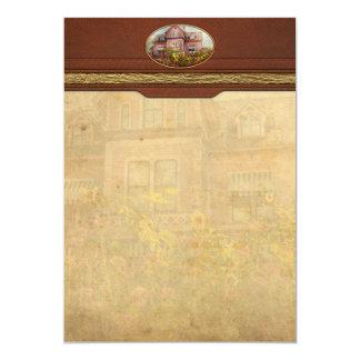 Casa - Victorian - cabaña del verano Invitación 12,7 X 17,8 Cm