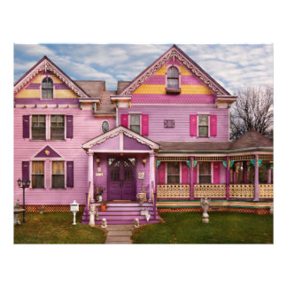 Casa - Victorian - colores brillantes del amor de Folleto 21,6 X 28 Cm
