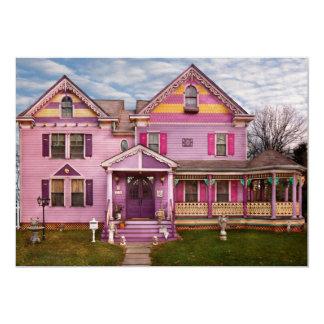 Casa - Victorian - colores brillantes del amor de Invitación 12,7 X 17,8 Cm
