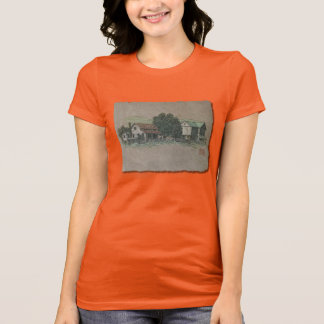 Casa y granero de Amish Camiseta
