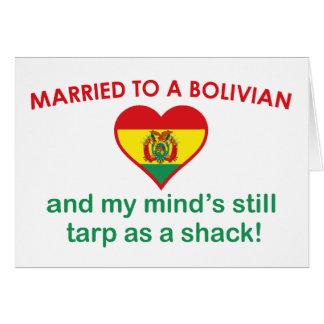 Casado con un boliviano tarjeta de felicitación