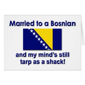 Casado con un bosníaco tarjeta de felicitación
