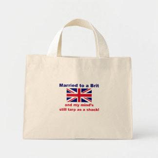Casado con un británico bolsa tela pequeña