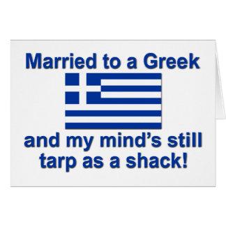 Casado con un Griego Tarjeta De Felicitación