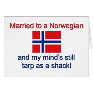 Casado con un noruego… tarjeta de felicitación