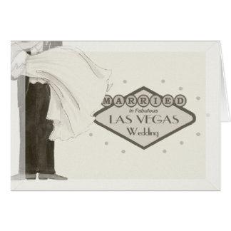 Casado en la tarjeta fabulosa de Las Vegas