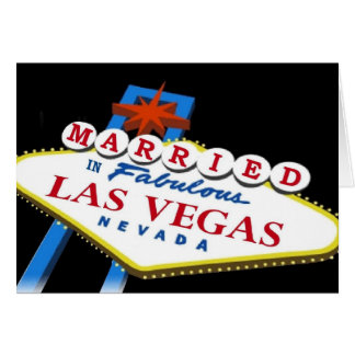 Casado en tarjeta de la muestra de Las Vegas
