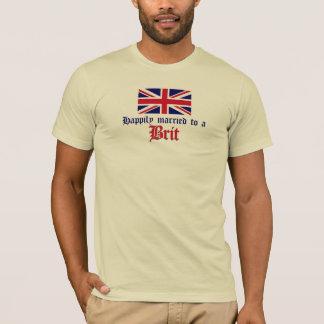 Casado feliz con un británico camiseta
