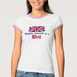 Casado feliz con un británico camisetas