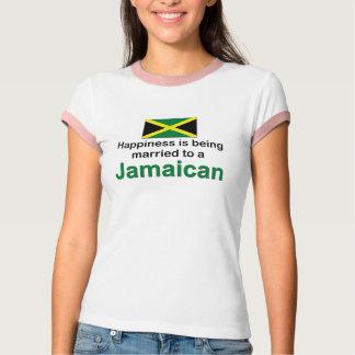 Casado feliz con un jamaicano camiseta