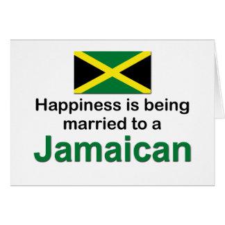 Casado feliz con un jamaicano tarjeta de felicitación