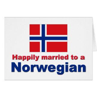 Casado feliz con un noruego tarjeton
