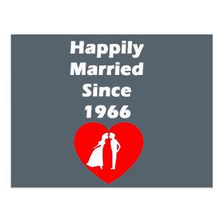 Casado feliz desde 1966 postal