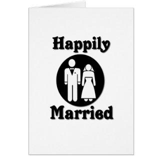 Casado feliz tarjeta de felicitación