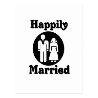 Casado feliz postal