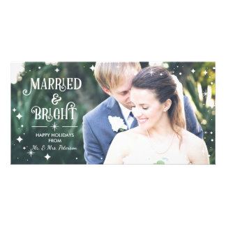 Casado y brillante, tarjeta de la foto del tarjetas fotograficas