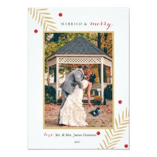 Casado y feliz invitación 12,7 x 17,8 cm