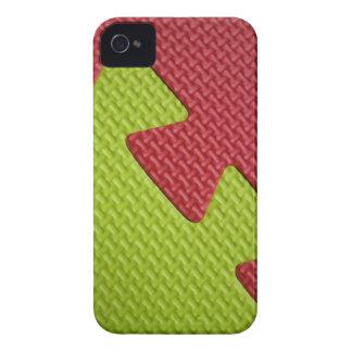 Casamata de goma verde roja del iPhone 4 de la imp iPhone 4 Protectores