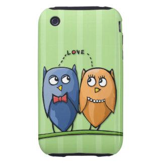 Casamata del iPhone 3G/3GS del verde del amor del Tough iPhone 3 Carcasas