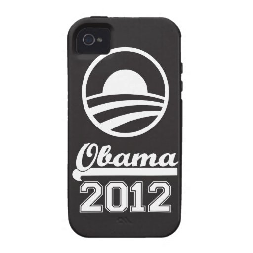 Casamata dura 2012 del iPhone 4 de OBAMA (negro) iPhone 4/4S Fundas