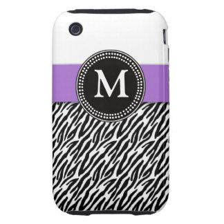 Casamata púrpura del iPhone 3 del modelo de la Funda Though Para iPhone 3
