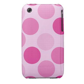 Casamata rosada Barely There del iPhone 3G del iPhone 3 Carcasas
