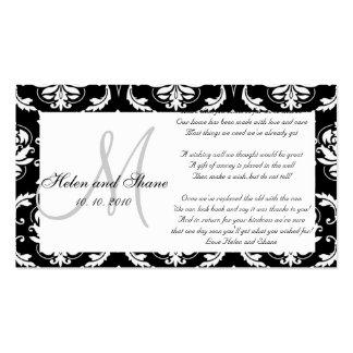 Casando desear bien y la tarjeta de la información tarjetas de visita