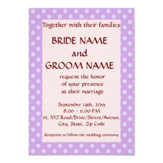 Casando los lunares Ceremonia-Violetas, pique el Invitación 11,4 X 15,8 Cm