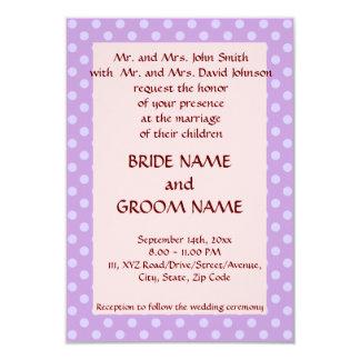 Casando los lunares Ceremonia-Violetas, pique el Invitación 8,9 X 12,7 Cm