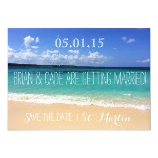 Casando reserva la fecha invitación 12,7 x 17,8 cm