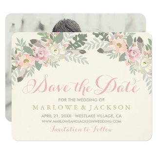 Casando reserva la primavera Boho de la tarjeta de Invitación 10,8 X 13,9 Cm