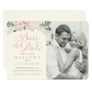 Casando reserva la primavera Boho de la tarjeta de Invitación 12,7 X 17,8 Cm