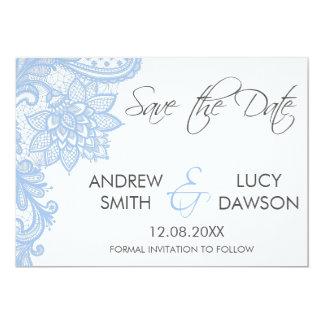 Casando reserva la tarjeta de fecha, ata la invitación 12,7 x 17,8 cm