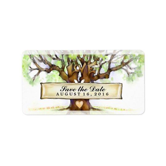 Casando reserva las etiquetas de fecha - el árbol etiqueta de dirección
