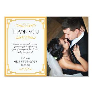 Casandose gracias cardar, tarjeta plana del art