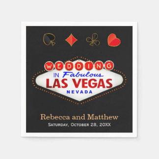 Casar al banquete de boda de Las Vegas de la ducha Servilleta Desechable