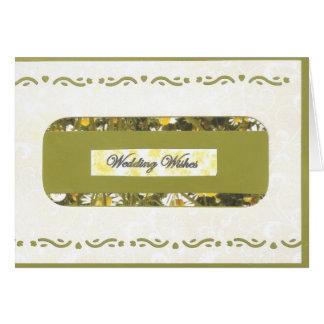 Casar deseos tarjeta de felicitación