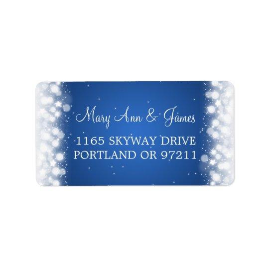 Casar el azul mágico de la chispa del amor de la etiquetas de dirección