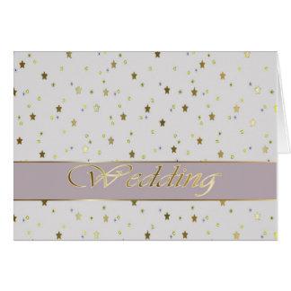 Casar el oro de plata de la enhorabuena tarjeta