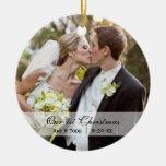 Casar el primer ornamento de la foto del navidad d ornamento de navidad