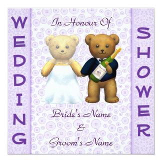 Casar la invitación de los osos de peluche de la invitación 13,3 cm x 13,3cm