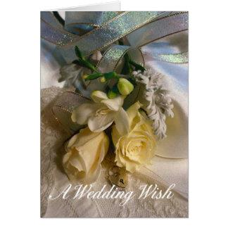 Casar la tarjeta de felicitación del deseo