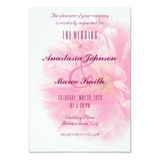 Casar la tarjeta floral nupcial de la moda de la invitación 8,9 x 12,7 cm