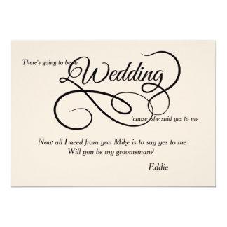 Casar la tarjeta nupcial de la petición del fiesta invitación 12,7 x 17,8 cm