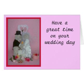 Casar osos tarjeta de felicitación